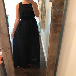 Forever 21 medium tulle & lace maxi dinner dress